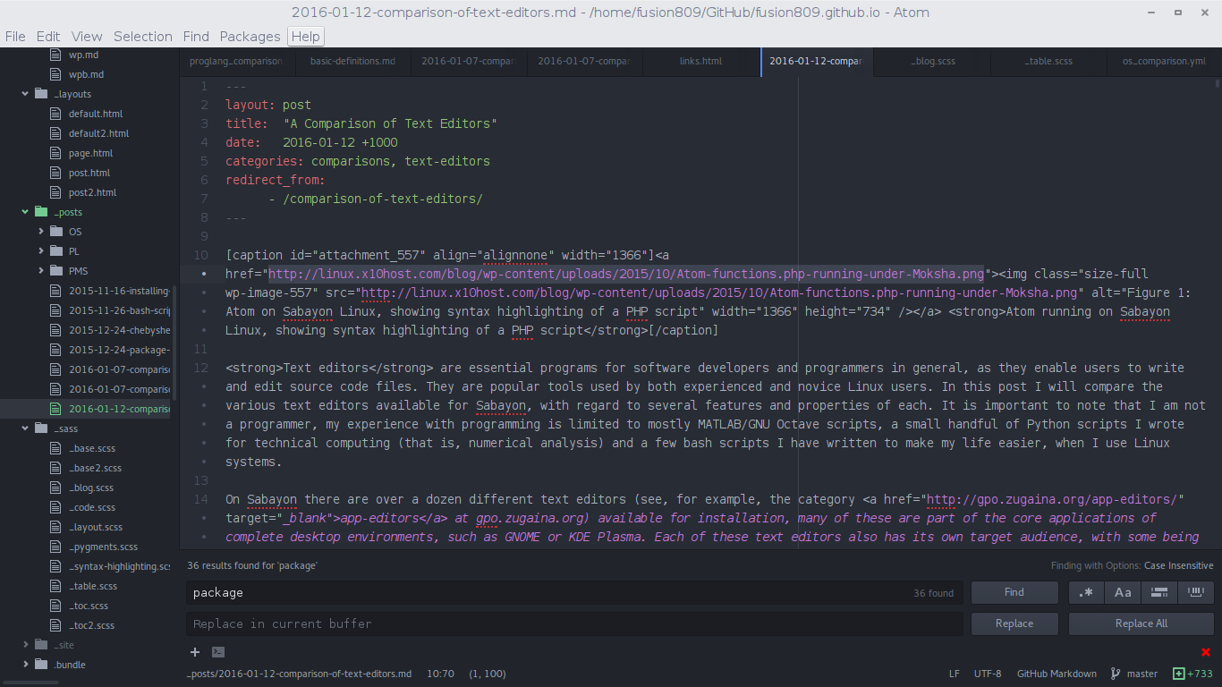 A Comparison of Free and Open-Source Text Editors and IDEs for
