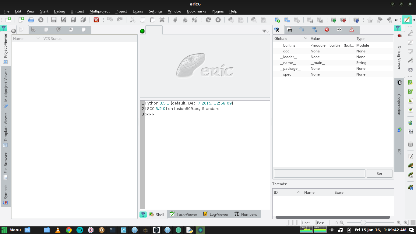 Eric 6 running under Manjaro Linux