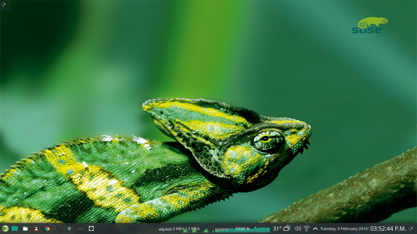 openSUSE Tumbleweed with the KDE Plasma 5 desktop