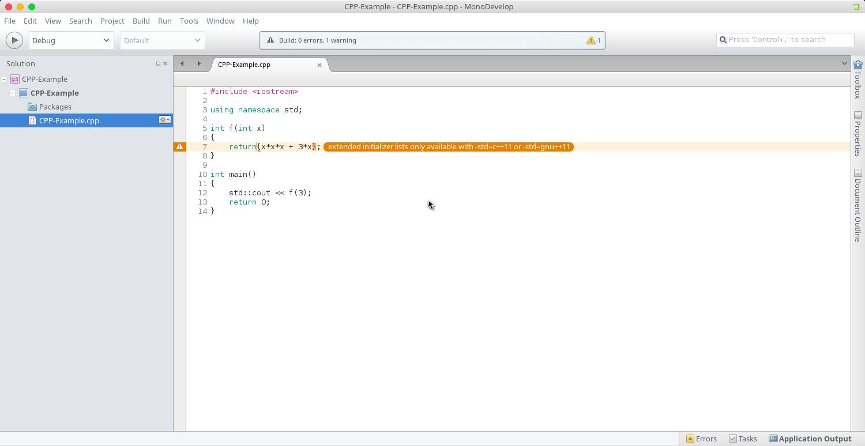 MonoDevelop 5.10 C++ debugger