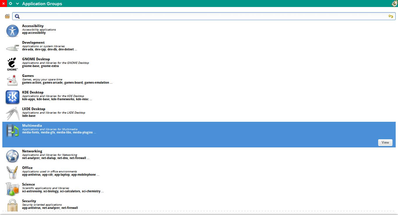 Rigo Application Browser running under KDE Plasma 5