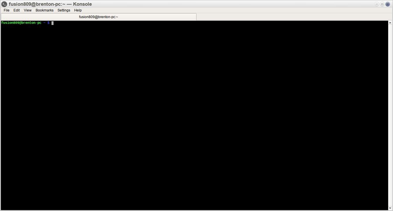 Konsole 15.08.2 running under Moksha