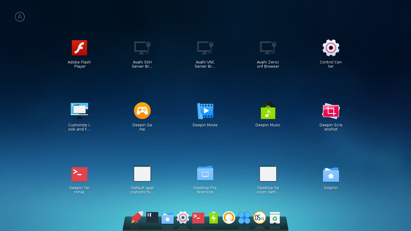 Arch Linux running the Deepin Desktop Environment