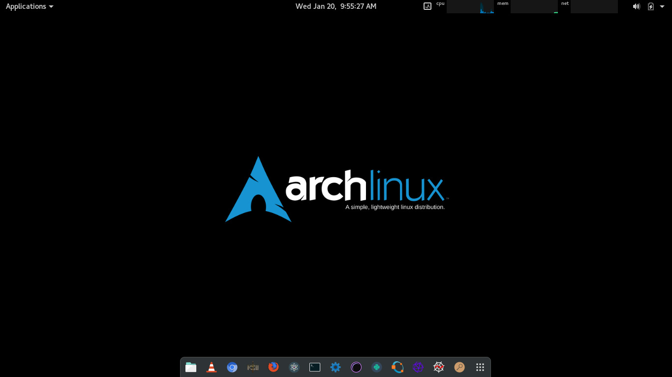 GNOME 3.18 running on Arch Linux installed on this removable drive