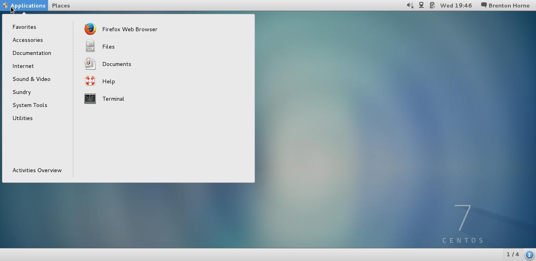CentOS 7 running GNOME 3