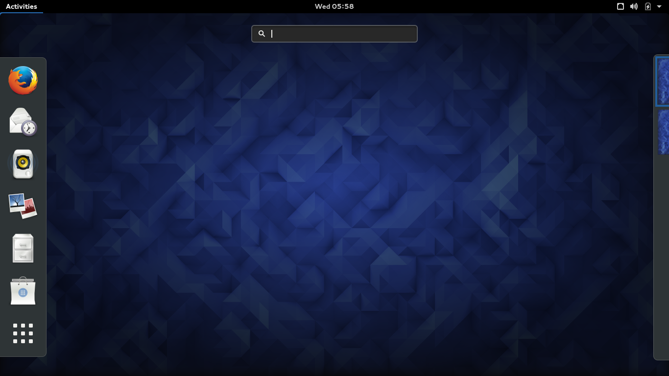 Fedora 23 with its default GNOME 3.18 desktop