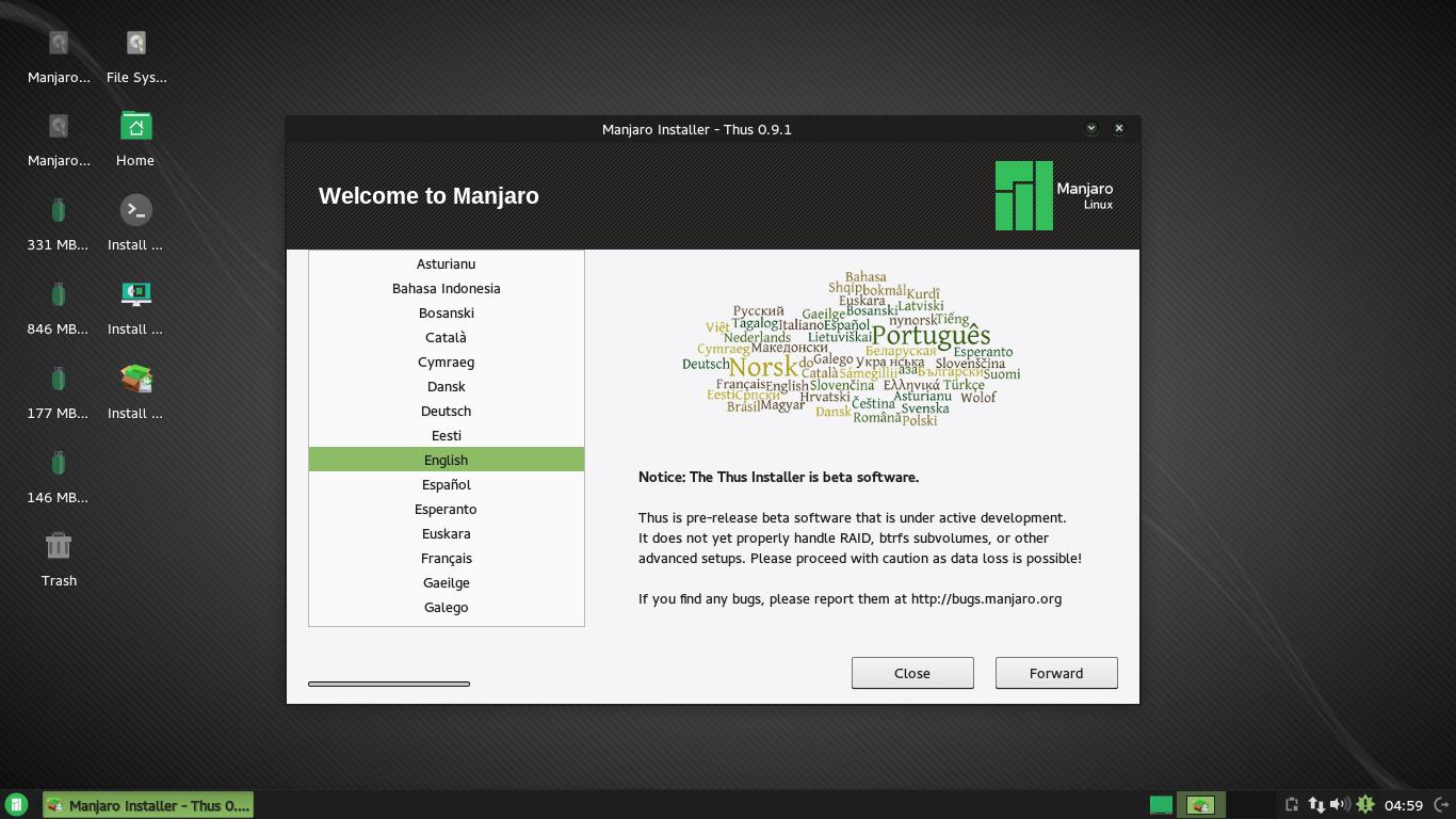 Manjaro's Thus installer