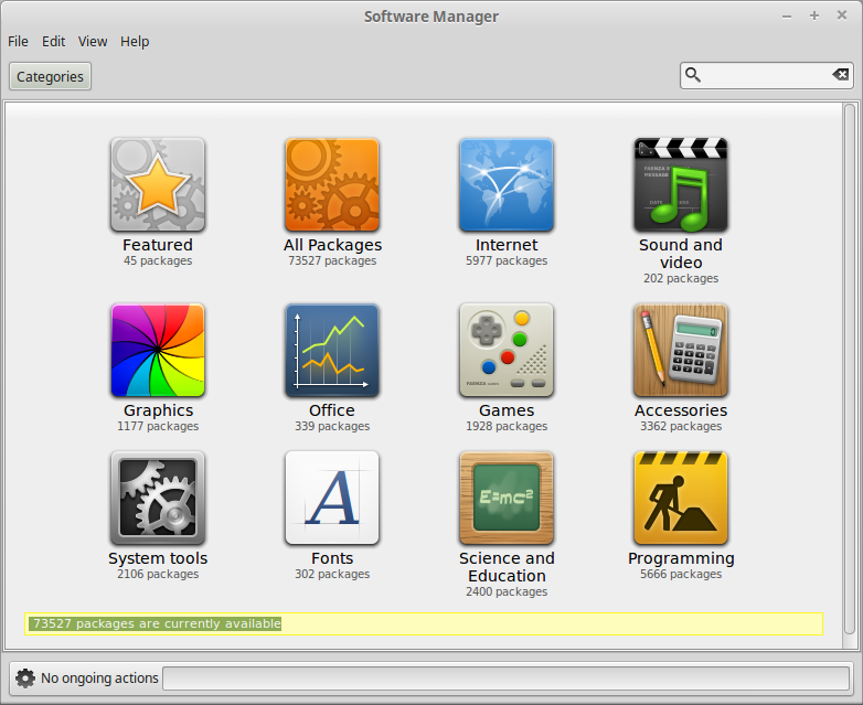 MintInstall 7.6.3 running on Linux Mint 17.3