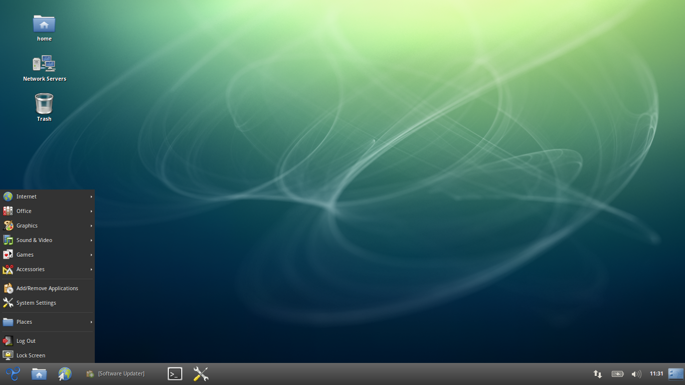 Trisquel 7 running its modified version of the GNOME 3.8.4